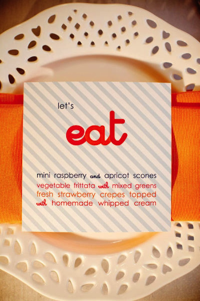 menu design lets eat