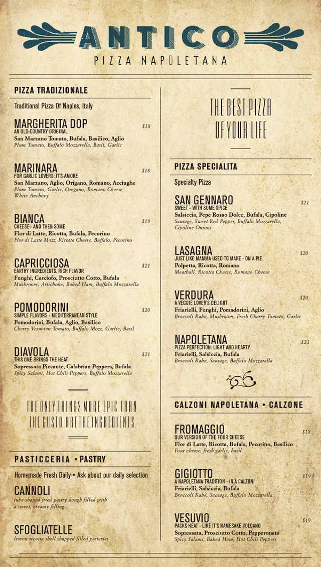 menu design miss design